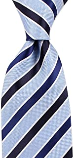 Elegant Men's Casual Fashion Stripe Pattern Tie for Work, Dating, Wedding, 145 × 8cm CQQO (Color : E)