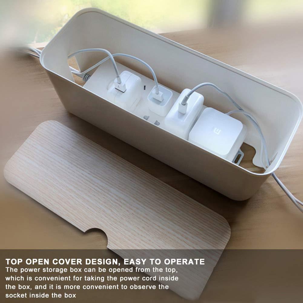 MJ style Caja de Administración de Cables con Tapa de Madera Cable ...