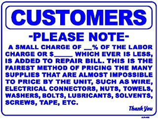 CUSTOMERS PLEASE NOTE A SMALL CHARGE OF... 18x24 Heavy Duty Plastic Sign