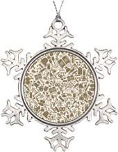 Promini Tree Branch Decoration Art A Backg Living Room Snowflake Ornaments Ideas for Decorating Christmas Trees, 3 Inch