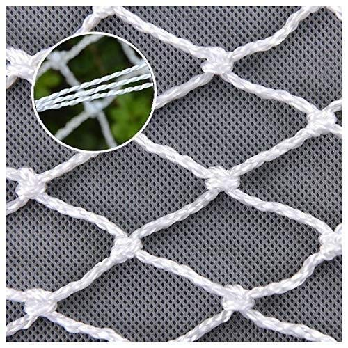 JFFFFWI Garden Netting Balcony Stair Railing Safety Protection For Kids Garden Plant Decoration Anti-cat Isolation Cargo Net Fence Outdoor Obstacle Lattice Goal Backstop Netting
