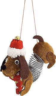 Melrose International Slinky Dog Hound Natural Brown 6 inch Fabric Christmas Figurine Ornament
