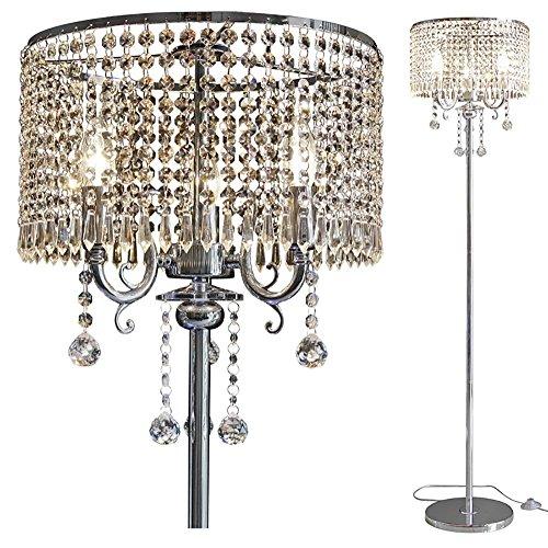 Staande lampen Europese kristal vloerlamp woonkamer modern luxe LED slaapkamer persoonlijkheid K9 vloerlamp