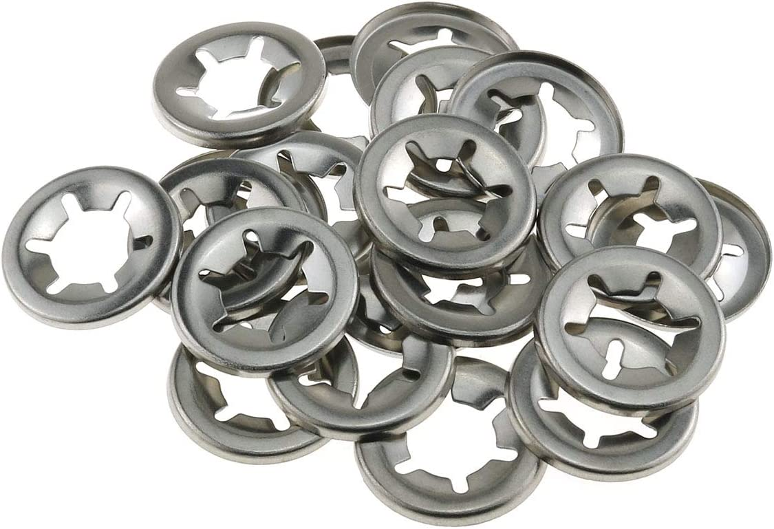 E-outstanding Purchase 20-Pack 304 Stainless List price Steel Starlock Bearing Clamp