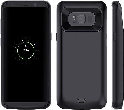 c9458cea5f9 Funda Batería Galaxy S8 Plus, Moonmini 120% Extra Battery Case 5500mAh  Batería Externa Recargable