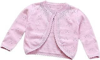 Baby Toddler Girls Princess Cardigan Knit Sweaters Winter Button Sweater Jacket Shawl
