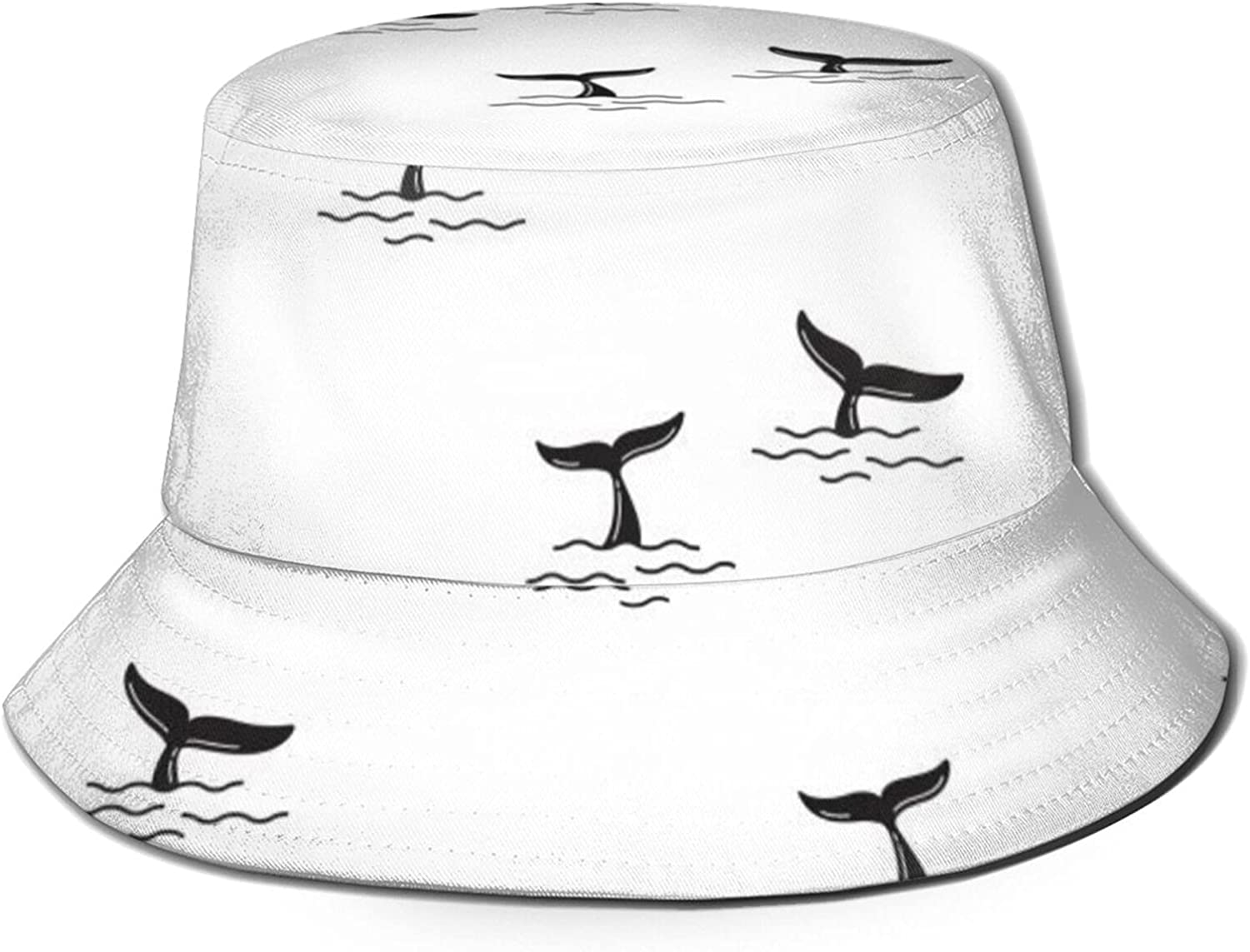Shark Fin Pattern Bucket Limited time for free shipping Hat Finally resale start Unisex Summer Sun Fish Packable