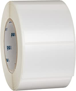 """Brady THT-19-422-1 3"""" Width X 2"""" Height, B-422 Permanent Polyester, Gloss Finish White Thermal Transfer Printable Label (1..."""
