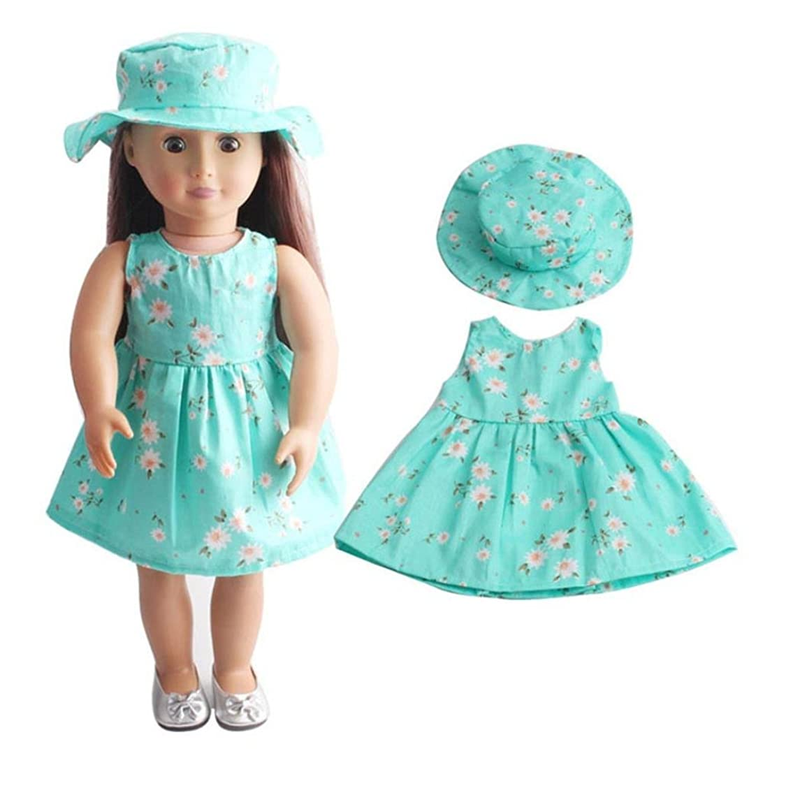 WensLTD Clearance! Skirt&Hat for 18 inch Our Generation American Girl Doll (E)