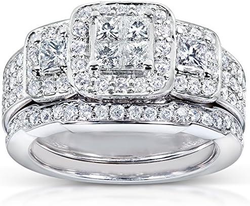 Kobelli Princess Diamond Wedding Ring Set ctw carat in Sale special price 6 1 Free Shipping New