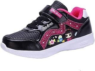 LGXH Cute Girls Grade School Running Shoe Lightweight Non-Slip Kids Sports Walking Athletic Sneakers