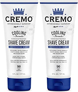 Cremo Cooling Shave Cream, Astonishingly Superior Smooth Shaving Cream Fights Nicks, Cuts..