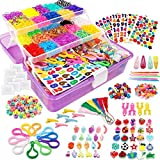 Outuxed 13000+ Colorful Rubber Bands Mega Refill Bracelet Making Kit, Colorful Jewelry Mak...