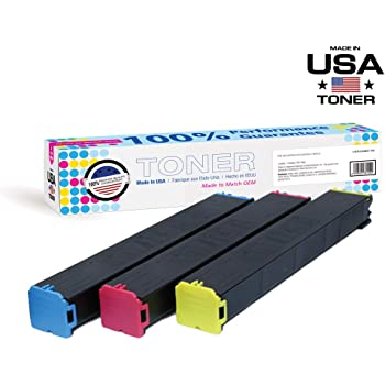 Compatible Toner Cartridges Replacement for Sharp MX-60CT Toner Cartridge for Sharp MX3081 3581 4081 3050N 3550N Toner,Yellow