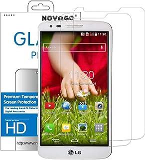 NOVAGO - Pack de 2 Protectores de Pantalla de Cristal Templado para LG G2 (ultrarresistentes y Transparentes)