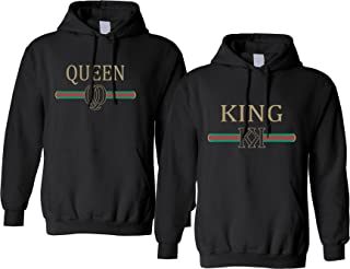 Adult Couple Hoodies King Queen Fashion Trending