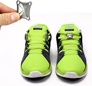 Magnetic Shoelace Buckle, Creative Convenient Easy Wear Take Off No-tie Shoelaces Buckle Lock for Outdoor Sports Hiking Camping Running
