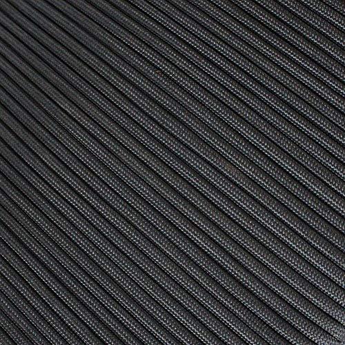 PSKOOK パラコード 4mm 30m パラシュートコード ロープ コード サバイバルテントロープ 7+3芯 防水ファイヤーテンダー 釣り系 綿系 軍事キャンプ 落下傘コード survival paracord アウトドア縄(黒)