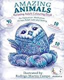 RELAXING Adult Coloring Book: Amazing Animals (Adult Coloring Book for Left Handed)