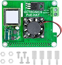 UCTRONICS PoE Hat for Raspberry Pi, 802.3at Power Over Ethernet Expansion Board for Raspberry Pi 4 B 3 B+, with Cooling Fan