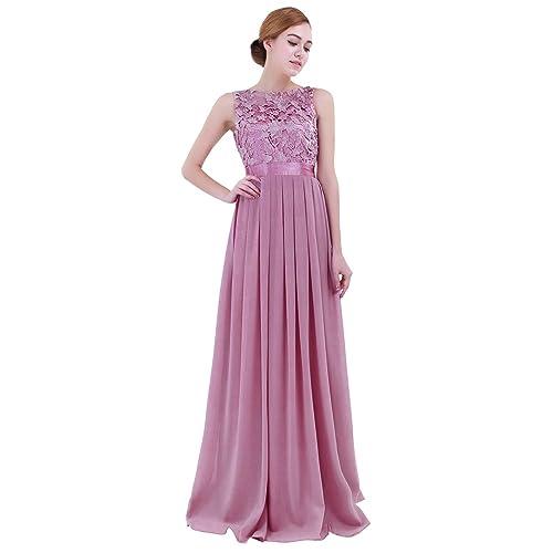 796a1d023 iiniim Mujer Vestido Largo Floreado de Fiesta Boda Dama de Honor de Novia  Elegente Vestido Vintage