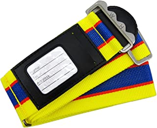 Luggage Strap Suitcase Belt WH-0050 (Yellow and Blue)