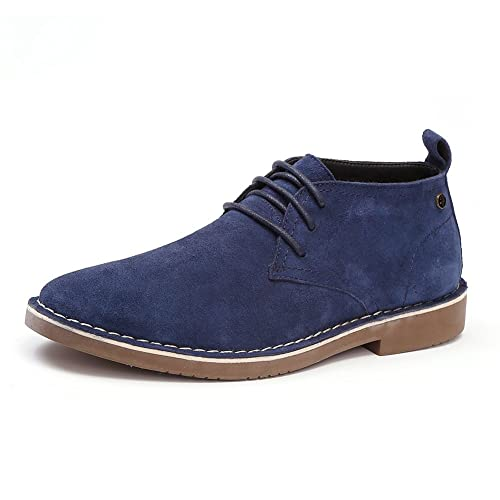 99ac69efa Men s Classic Genuine Suede Leather Chukka Boots Lace up Casual Oxfords  Shoes Ankle Desert Boot