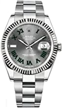 rolex datejust green roman