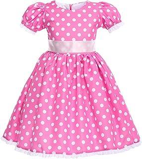 IBTOM CASTLE Girls Cap Sleeves Skirt Mini Polka Dot Dress Princess Pageant Brithday Party Gown Mouse Ears Headband