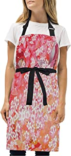 YIXKC Apron Japan Style Pattern and Color Adjustable Neck with 2 Pockets Bib Apron for Family/Kitchen/Chef/Unisex