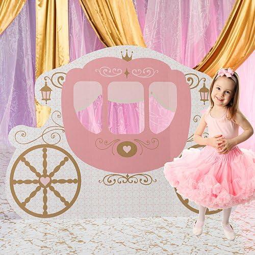 タイムセール 激安セール 4 ft. 6 in. Pink Princess Standee Fairytale Provincial Carriage