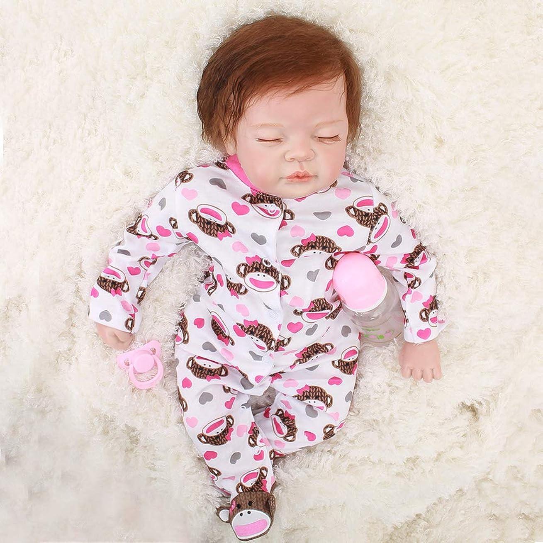 娘じゃない不道徳寝ている現実的な22インチ55 cm生まれ変わった赤ちゃん人形女の子かわいいソフトビニールシリコーン人形加重赤ちゃん生まれ変わった人形服と新生児の手作り人形(EN71認証)