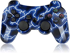 PS3 Controller Wireless Dual Shock Sixaxis Gaming Controller for Sony PlayStation3 Remote Control with Charger Cable