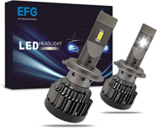 EFG H7 LED Headlight Conversion Kit DOT 6000LM LED Headlamp for Halogen Bulb Replacement 6000K White