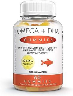Omega 3 6 9 + DHA Fish Oil Gummies - Supports Brain Joint & Cardiovascular Health - Non-GMO Gluten-Free Gelatin-Free Plant...