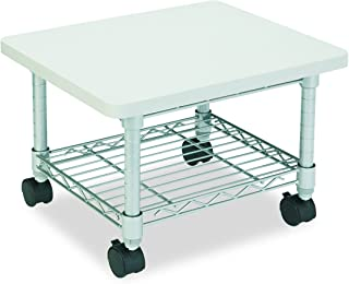 Safco Products Under Desk Printer/Fax Stand , Gray Powder Coat Finish, Swivel Wheels for Mobility
