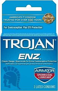 Trojan-ENZ Spermicidal Lubricant Latex Condoms - 3 ct, Pack of 5