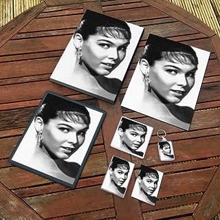Yvonne Craig - Original Art Gift Set #js002 (Includes - A4 Canvas - A4 Print - Coaster - Fridge Magnet - Keyring - Mouse M...