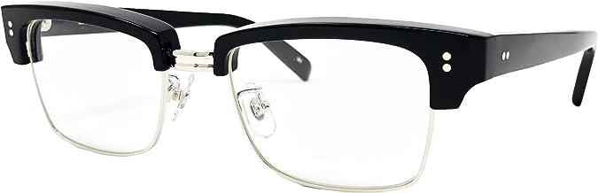 EFFECTOR 眼鏡 メガネ delay3-BK メンズ レディース ファッション おしゃれ 黒縁 めがね工房ハトヤオリジナルメガネ拭き付【正規品】ブラック