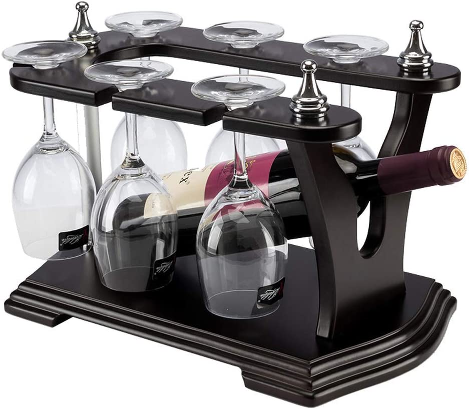 Max 89% ! Super beauty product restock quality top! OFF CHUNSHENN Simple and Stylish Wooden Goblet Large Wine Capac Rack