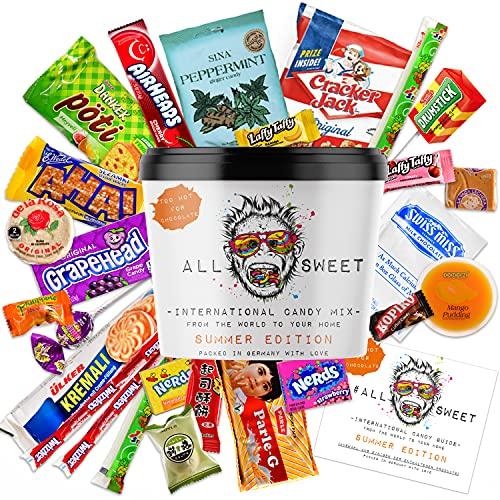 ALL SWEET 24 Teile Süßigkeiten aus Aller Welt, Amerikanische Süssigkeiten Box XXL, Süßigkeiten Großpackung die Mystery Box (Summer Edition)