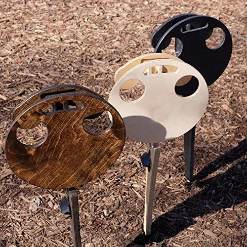 TinaDeer Weintisch Holz Picknicktisch klappbarer,Bierschreibtisch mit Korkenzieher,Weinliebhaber Geschenk,Campingtisch Outdoor Garten Tisch,Camper,Wanderer,Angler sowie Outdoor begeisterte (Brown)
