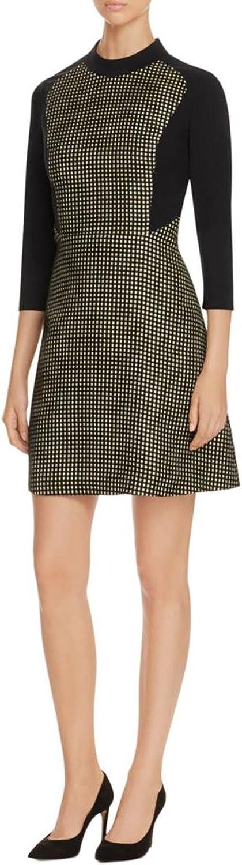 Finity Womens Shiny ALine Dress