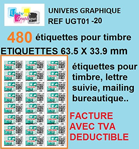 20 A4-Blatt Sticker 24 63,5 x 33,9 mm Klebeetikettenpapier für Tintenstrahl- und Laserdruckern