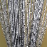 100 cm Tangpan acústico de la cadena carbura cm puerta decorativa cortina plana rara tabique de malla, poliéster, gris, 100 x 200 cm
