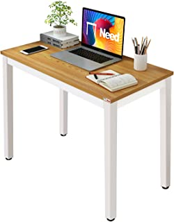 Need Small Computer Desk Sturdy and Heavy Duty Writing Desk for Small Spaces Home Office Computer Workstation Small Desk S...