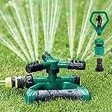 Rasensprenger,Garten Sprinkler Automatische Bewässerung 360°3-arm Rotierendes Gardens Rasensprenge Verstellbarer für Rasen,Pflanzen