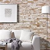 wodewa Paneles de Madera Para Pared Estilo Vintage Rústico I 1m² Revestimiento de Paredes 3D Panel Decorativo Madera Interior Sala de Estar Cocina Dormitorio Mural Retro Shabby Chic V009