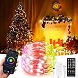 32.8ft LED Indoor String Lights, Fairy lights, Music Sync Color Changing Dreamcolor, Kit with, Rainbow WiFi Wireless Smart Light Strip Works with Alexa Google Assistant App Control Room,Christmas
