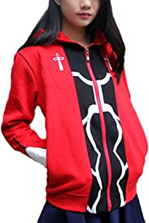 GK-O Unisex Anime Fate Stay Night Archer Red Zipper Thick Hoodie Cosplay Costume Sweatshirt